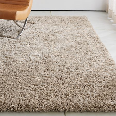 Memphis Stone Natural Shag Rug | Crate and Barr