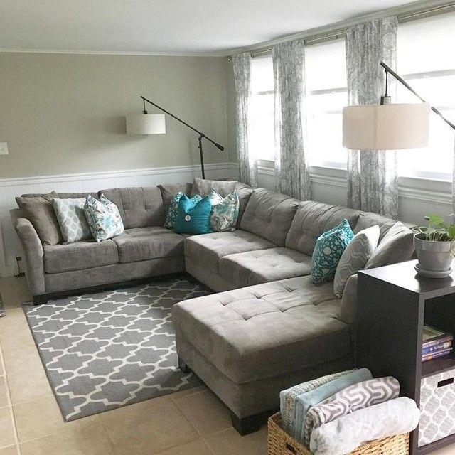 Elliot Fabric Microfiber 3-Piece Chaise Sectional Sofa - Furniture .