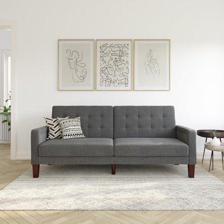 Better Homes & Gardens Porter Fabric Tufted Sofa Bed, Multiple .