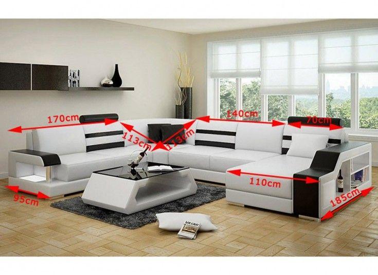Tessie - U - Leather Sofa Lounge Set | Lounge sofa, So