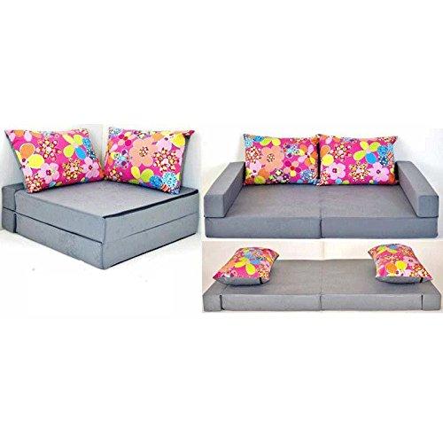 bieten Kindersofa Collage 3in1 Sofa Ecksofa Bett Ausziehbett grau .