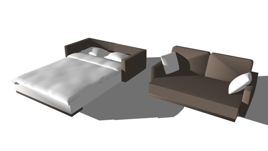 transformist sofa bed - Ausziehbett | 3D Warehou