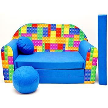 Kindersofa Bettfunktion 3in1 Sofa (Kindersessel Ausziehbett Bett .