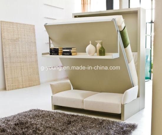 China Murphy-Bett mit Speicherplatz-Sofa-Kombination für Hotel .