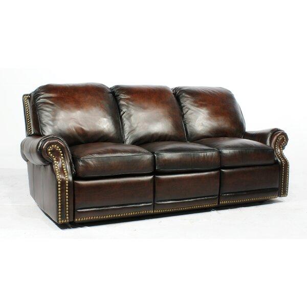 Canora Grey Timmie Leather Reclining Sofa & Reviews   Wayfa