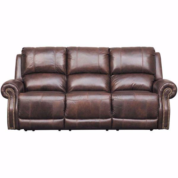 Buncrana Italian Leather Power Reclining Sofa with Adjustable .