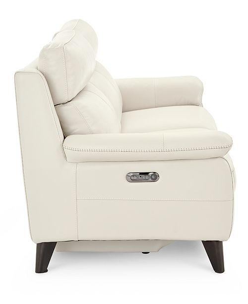 """Furniture Milany 87"""" Leather Power Reclining Sofa with Power ."""