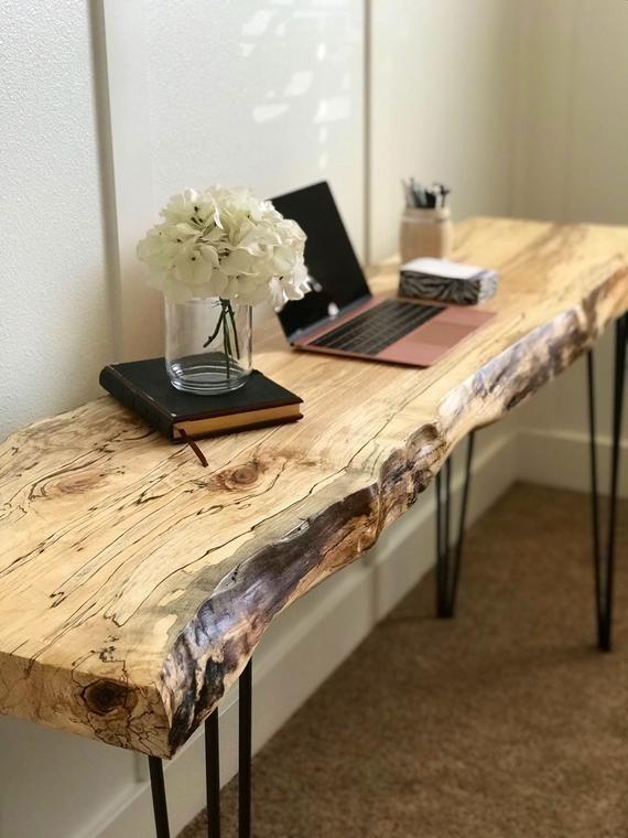 Wohnzimmer Tisch Live Edge-Tisch / Live Edge-Schreibtisch / Live .