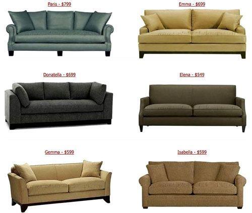 Verschiedene Stil Sofas – Wohnzimmermöbel Anderen Stil Sofas .
