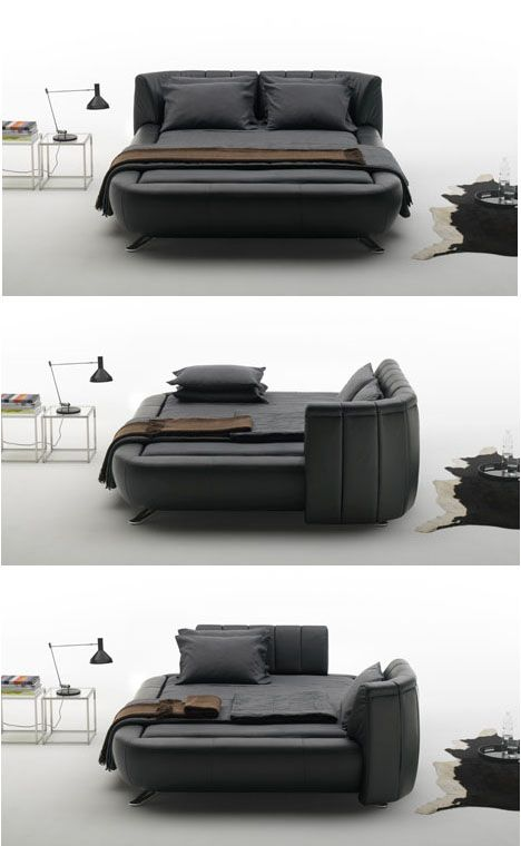 Mobile Headboards Split Beds into Soft Sofas & Solo Spaces (With .