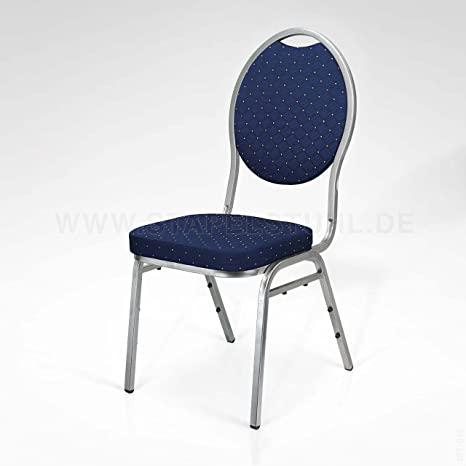 12er Set Stapelstuhl blau Bankettstühle Stapelstühle .