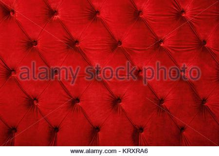 Red capitone getuftete Stoffbezüge Textur Stockfoto, Bild .