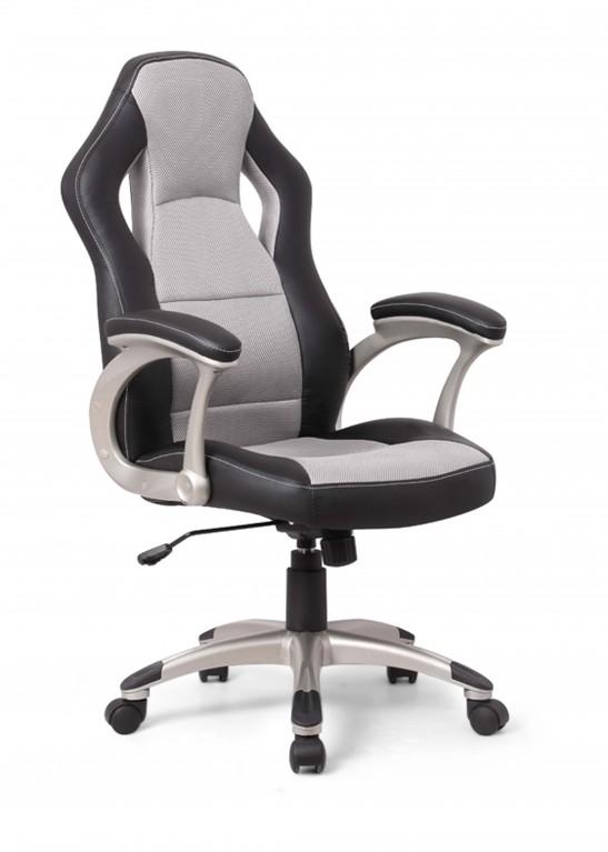 MIKE Chefsessel Bürostuhl Drehstuhl Stuhl Büro schwarz/grau .