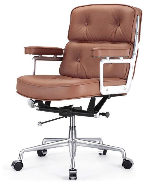 Brown Leder Büro Stuhl | Moderne bürostühle, Lederstühle und .