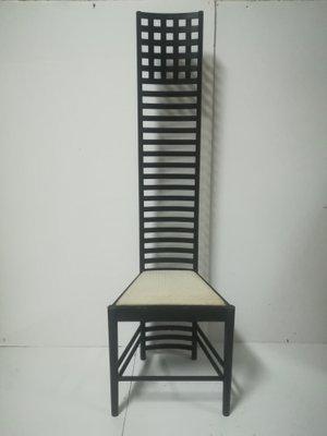 Italienischer Vintage Stuhl mit hoher Rückenlehne bei Pamono kauf
