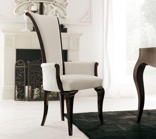 Stuhl mit hoher Rückenlehne und Armlehnen, Avenanti .