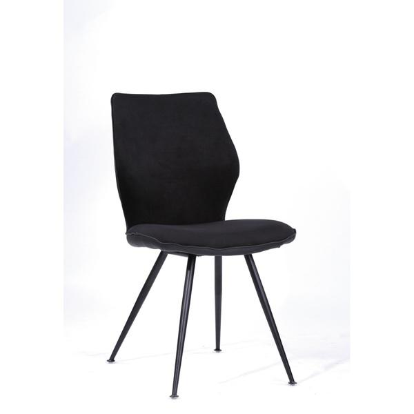 Stuhl JACK Stoff Schwarz von ansehe
