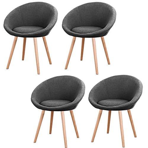 MCTECH® 4x Esszimmerstühle Besucher-Stuhl Esszimmerstuhl .