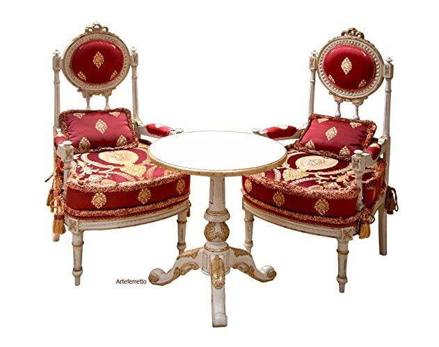 Elegante Sitzgruppe für Wohnzimmer oder Esszimmer: 2 Stühle und 1 .
