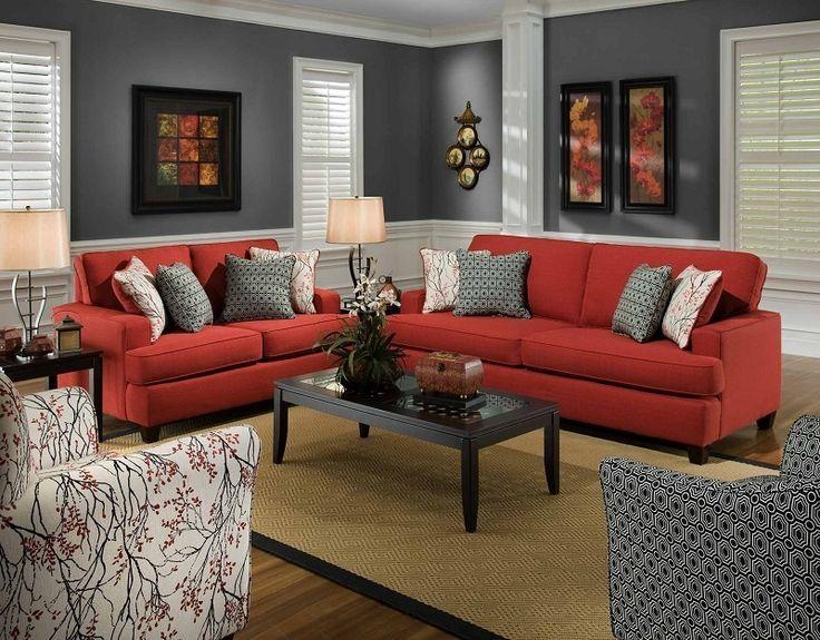 Rot Accent Stühle Für Wohnzimmer | Wohnen, Wohnzimmer design und .