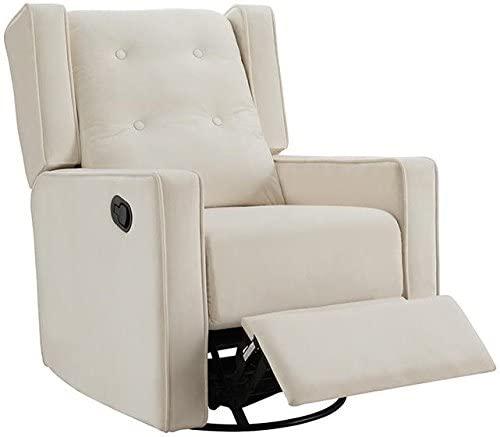 Amazon.com: Naomi Home Odelia Swivel Glider Rocker Recliner Cream .