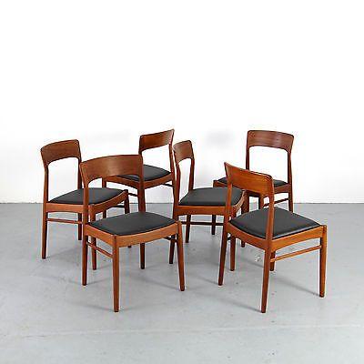 6 Mid Century Modern Chairs by K.S. Møbler Denmark 60s | Danish .