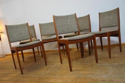 6x Teak Stühle Stuhl Chair Teakholz IMHA Denmark Danish Design .