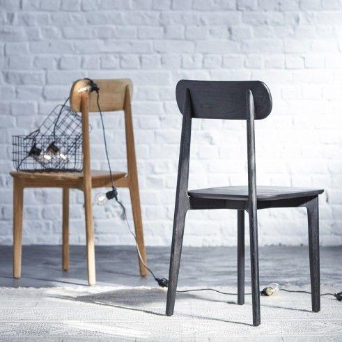 Stuhl aus Teak Jonàk schwarz | Chair, Decor, Dining chai