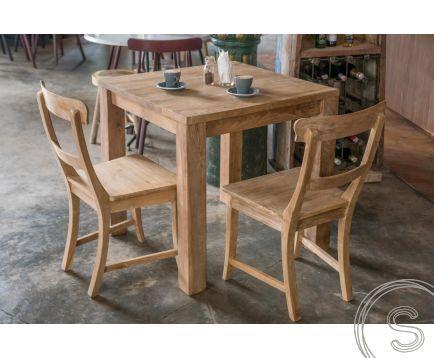 Teak Tisch 80x80 + 2 Stühle | Wohnen mit Teak Möbeln .