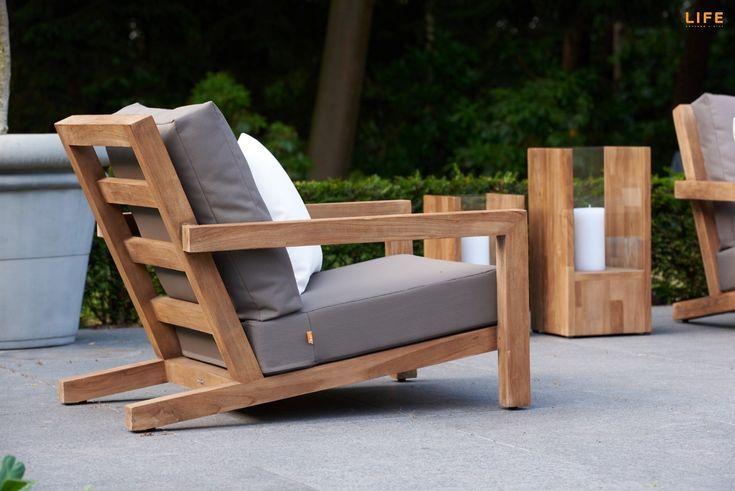 Block Lounge Teak - LIFE Outdoor Living | #teakholzmöbel .