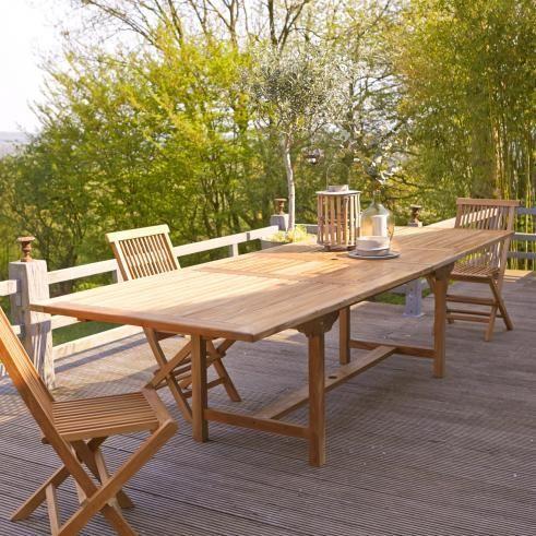 Outdoor Tisch aus Teak 200 Capri - - Tikamoon - - Wohnen mit Teak .