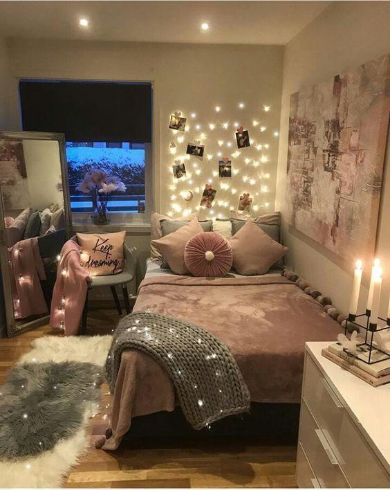 Einfache Dekorationsideen für Teen Girls Schlafzimmer .