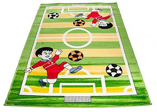 Fußball Teppich für das Kinderzimmer. Dieser Spielteppich für .