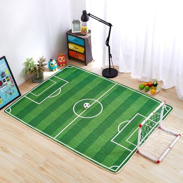 Kinder Schlafzimmer Teppiche 3d Kinder Teppich Fußball Teppich .