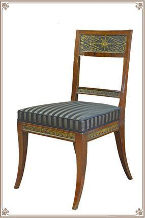 c1800-10 Stuhl, um 1800/10, Rabe, Weimar? | Stühle, Sessel und Rie