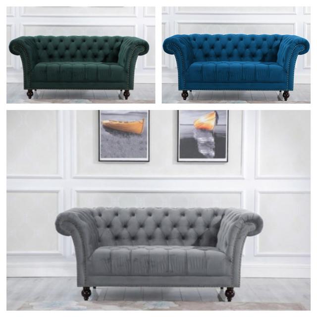 Chester 2 Sitzer Traditionell Stoff Sofa Elegant Sofa Wohnmöbel | eB