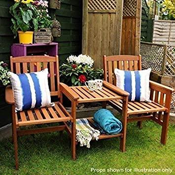 Amazon.de: Garden Mile Akazie harthols Garten Liebe Sitz Zwilling .