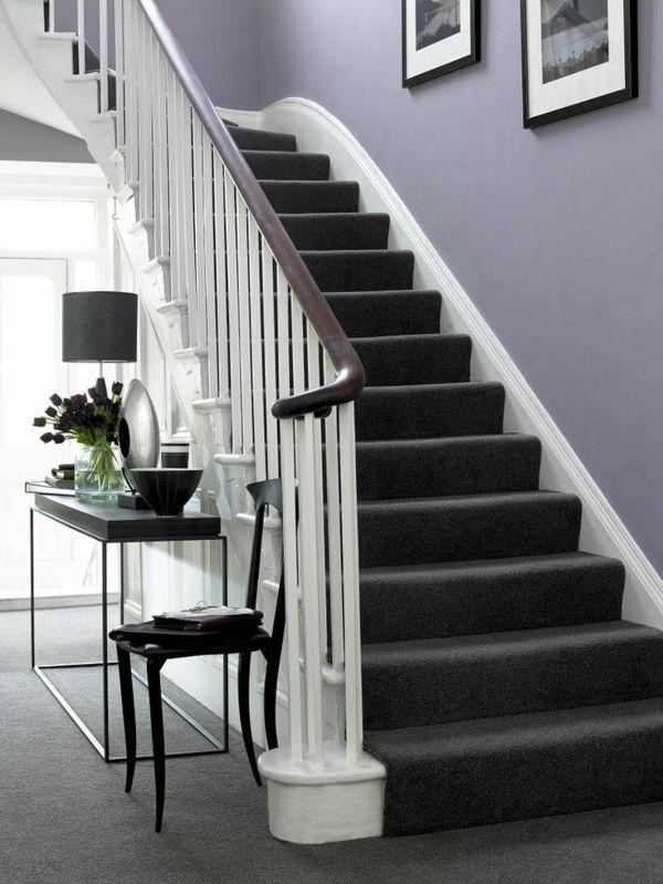 Treppenteppich bringt den Eingangsraum auf höheren Level | Treppen .