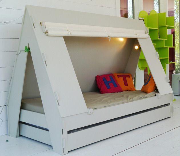 Trundle Bett für Kinder schließt kreativ in privates Zelt mit .