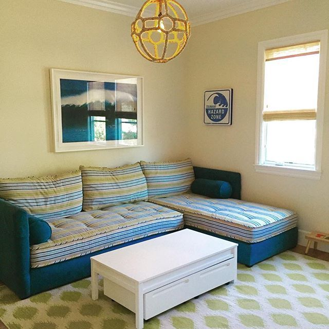 This is one of my favorite sectionals! It's actually 2 twin beds .