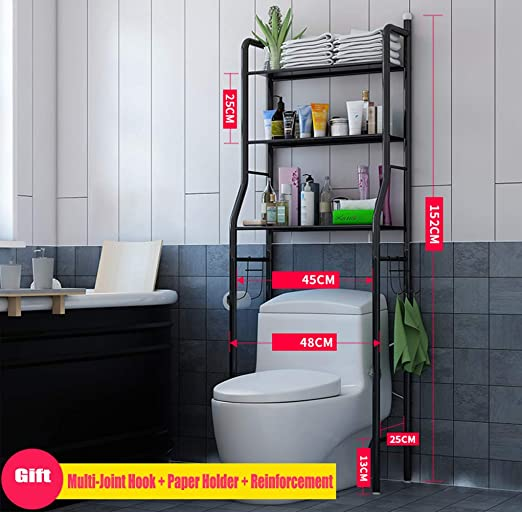 Amazon.de: Gjfhome Badezimmerregal, Toilettenregal .