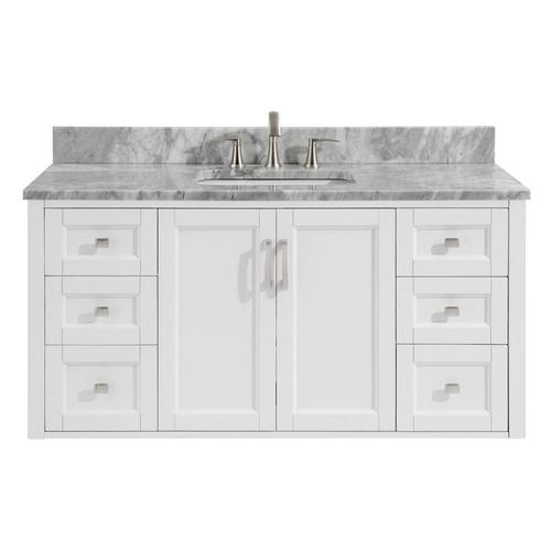 Allen + roth Floating 48-in White Single Sink Bathroom Vanity with .