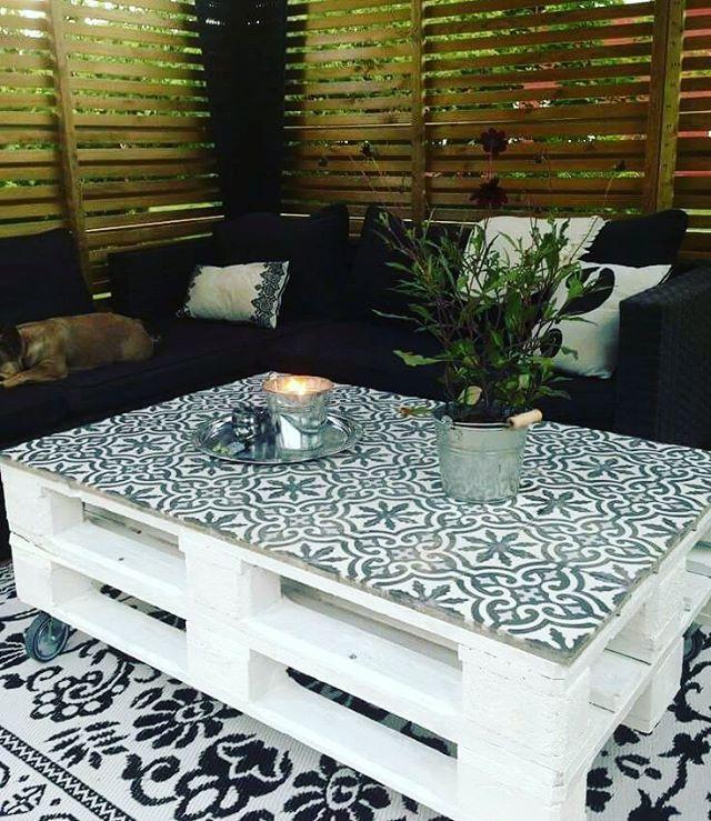 Veranda-Möbel in 2020 | Pallet furniture table, Palette table .