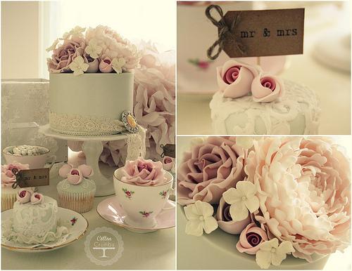 Vintage Wedding - Hübsche Vintage-Kuchen #1987449 - Weddbo