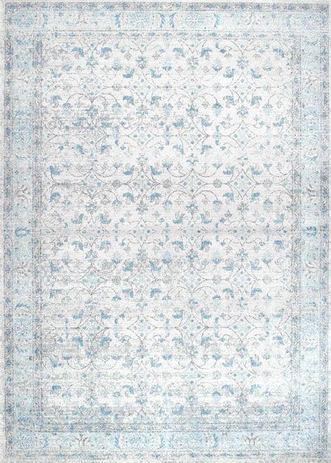 Mint Rugs Viskose Teppich Shine Willow in Blau | Quadratische .