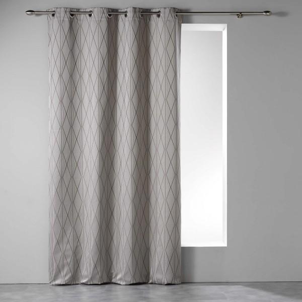 Vorhang (140 X 260 cm) Azora Taupe - Gardinen / Vorhänge / Rollos .