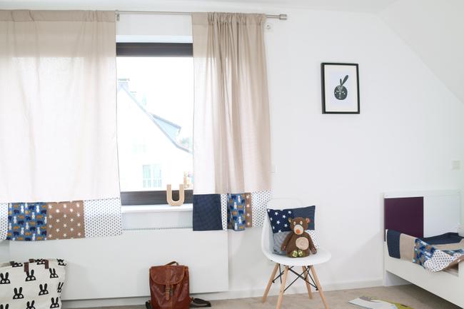 Patchwork Kinderzimmer Vorhänge 140x170 cm SAND BÄR .