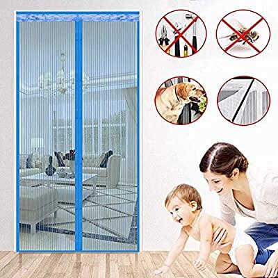 Jimgd Schwerlast-Netz-Vorhang, leise, magnetische Tür für .
