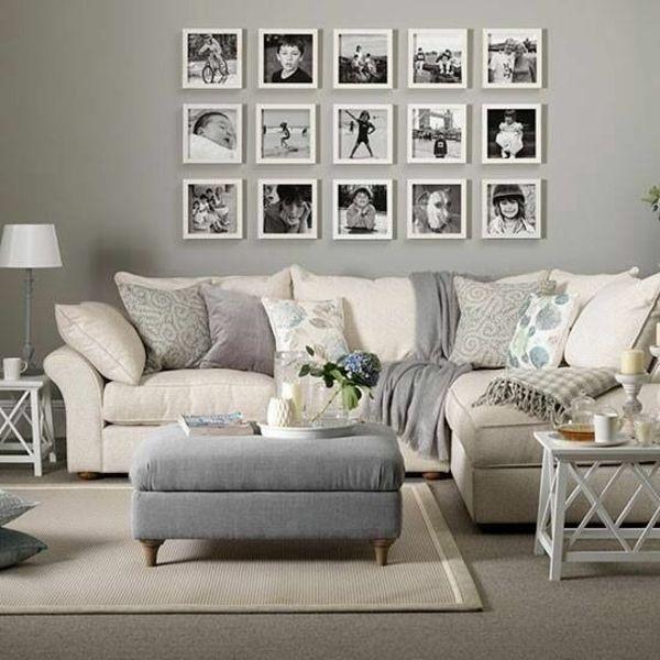 Wandgestaltung Wohnzimmer - 20 kreative Wanddeko Ideen .