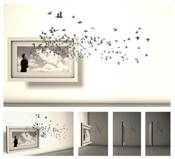 Wanddeko Ideen durch welche man einen tollen Effekt im Raum erschaf